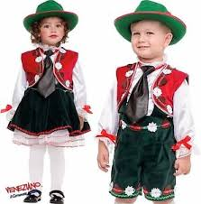 Italian Halloween Costume Boys Girls Italian Oktoberfest Tirolese Tyroleon Fancy Dress