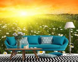 bedroom 3d wallpaper nature beautiful sunset scenery photo