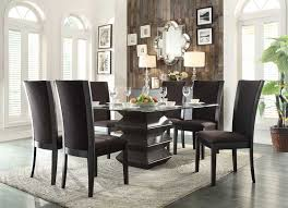 homelegance havre dining set dark brown fabric chairs 5021 54 homelegance havre dining set dark brown fabric chairs