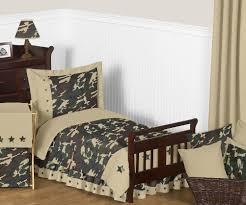 Army Bed Set Jojo Designs Camo Green Collection 5pc Toddler Bedding Set