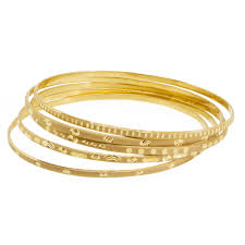 gold bangle bracelet set images 22k set of stamped gold bangles 5 piece buy online at goldsilver jpg