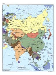 asia map and countries asia map countries and capitals a with throughout of