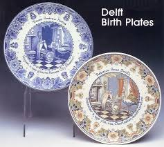 birth plates personalized birth plate keepsake delft birth and marriage tiles and plates