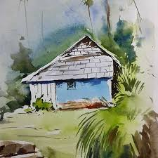 watercolour oil color painting sikander watercolor artist