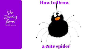 how to draw a cute spider how to draw a halloween spider youtube