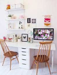 Cute White Desk 22 Creative Workspace Ideas For Couples White Desks Ikea Hack