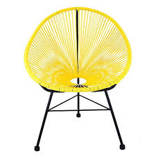 ixtapa tri color outdoor full sized patio lounge chair in yellow