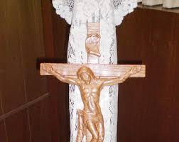 crucifix wall decor wall crucifix etsy