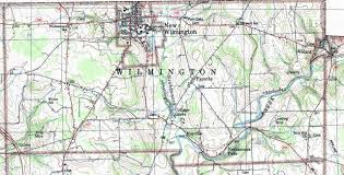 Wilmington Ohio Map by Lawrence County Pennsylvania Township Map