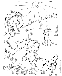 spring coloring book pages spring fun