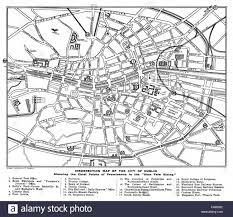 easter rising insurrection map of dublin contemporary plan