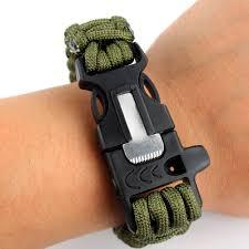 survival bracelet whistle buckle images Paracord survival bracelet with firestarter jpg
