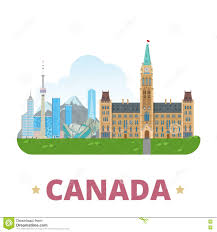 canada country design template flat cartoon style stock vector