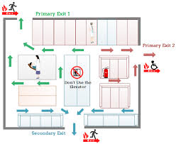 fire exit floor plan template evacuation floor plan for hospital emergency