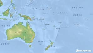 Map Of Oceania Free Physical Maps Of Australia And Oceania U2013 Mapswire Com