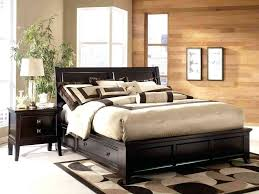 pia queen metal platform bed frame black pu leather