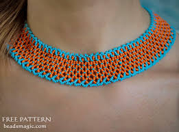 orange beads necklace images Free pattern for necklace orange summer beads magic jpg