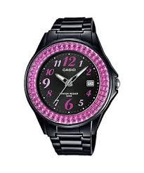 Jam Tangan Casio Remaja jual jam tangan casio remaja anti air lx 500h 1bvdf warna hitam pink