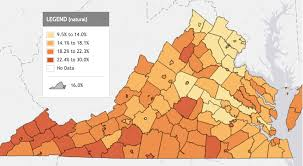 A Map Of Virginia by Giving Thanks For A New Indicator U2013 Child Food Insecurity Voices