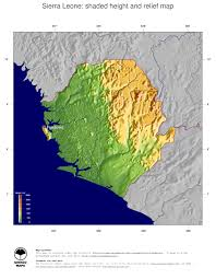 Africa Topographic Map by Map Sierra Leone Ginkgomaps Continent Africa Region Sierra Leone