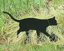 cat garden ornament black cat ornament for your lawn or large pot