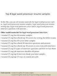 free resume template word processor top 8 legal word processor resume sles 1 638 jpg cb 1438224156