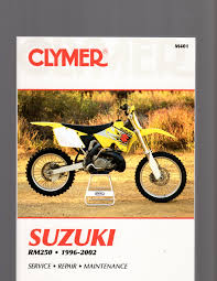 suzuki rm250 1996 2002 clymer maintenance troubleshooting