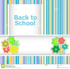 Invitation Card For New Year Back To Invitation Card With Flowers Education Stock Photo