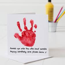 personalised hand print birthday card by twenty seven