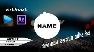 audio spectrum maker online free youtube