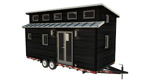 Box House Plans by Cider Box Tiny House Plans Padtinyhouses Com 20 Foot Rendered With