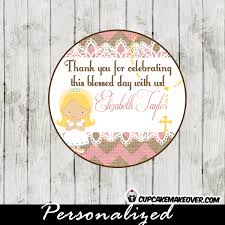 First Holy Communion Decorations Pink Burlap U0026 Lace First Communion Favor Tags Personalized D7