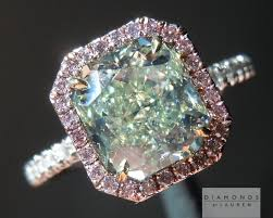 green diamonds rings images Green diamond radiant cut diamond pink diamond halo jpg