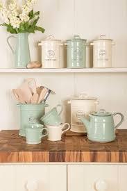 vintage style kitchen canisters green retro kitchen storage jars swan set of tea coffee sugar blue