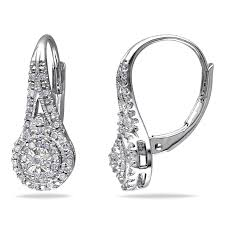 diamond dangle earrings miadora sterling silver 1 4ct tdw diamond dangle earrings free