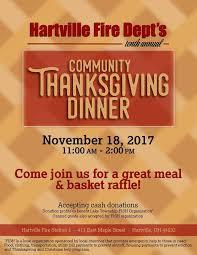 community thanksgiving dinner discover hartville