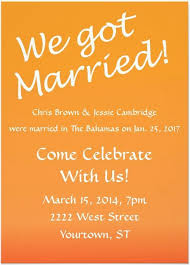 reception invitation 21 beautiful at home wedding reception invitations destination