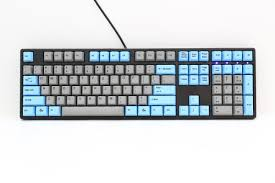 Discount Photo Keyboard Ducky One Blue Gray Dye Sub Pbt Mechanical Keyboard Red Cherry Mx