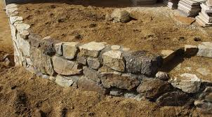 How To Build A Rock Garden How To Build A Simple Cheap Garden Retaining Wall