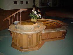 baptism pool baptism