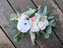 bridesmaid bouquet forever bridesmaid bouquet faux succulents silk flowers sola