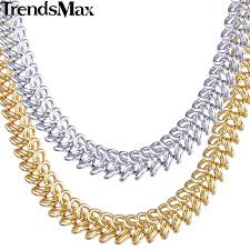 white gold fashion necklace images Buy trendsmax 6mm womens chain ladies braided jpg