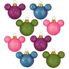 your wdw store disney ornament set glass mini mickey ears