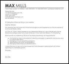marketing officer cover letter sample livecareer