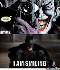 Batman Face Meme - list of synonyms and antonyms of the word joker smile meme