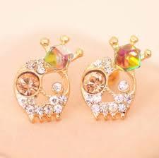 skull stud earrings beautiful skull stud earrings skull obsessed