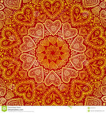 Indian Style - ornamental hearts pattern in indian style stock photos