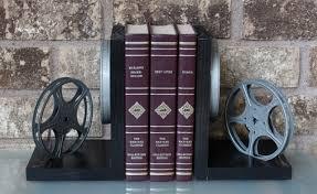 beautiful creative bookends wood material love theme modern design