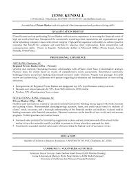 Qualification Profile Resume Personal Banker Resume Objectives Resume Sample Writing Resume