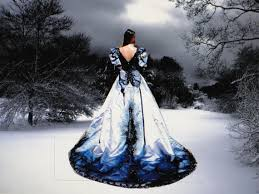 black wedding blue and black wedding dresses luxury brides